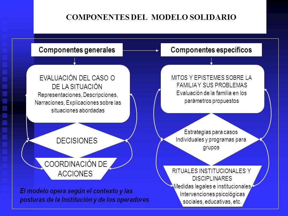 COMPONENTES DEL MODELO SOLIDARIO