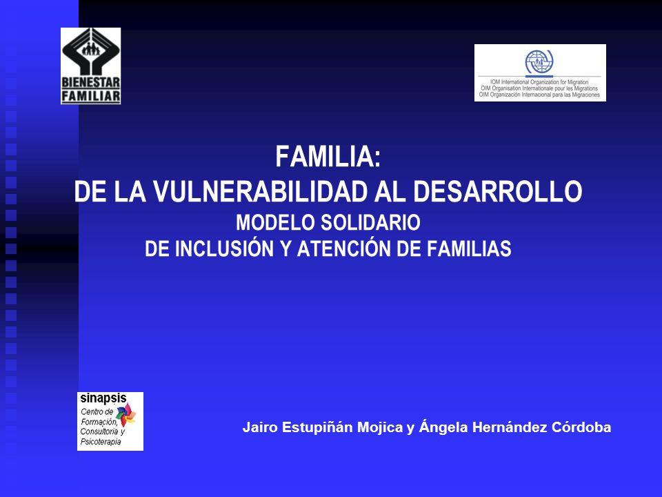FAMILIA: DE LA VULNERABILIDAD AL DESARROLLO MODELO SOLIDARIO DE INCLUSIÓN Y ATENCIÓN DE FAMILIAS