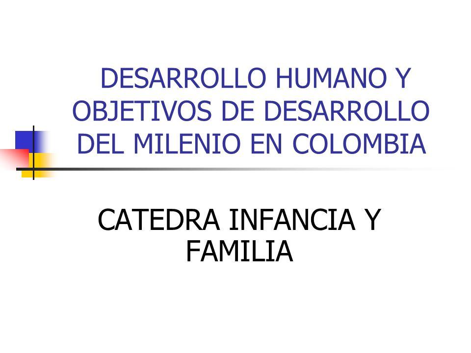 DESARROLLO HUMANO Y OBJETIVOS DE DESARROLLO DEL MILENIO EN COLOMBIA