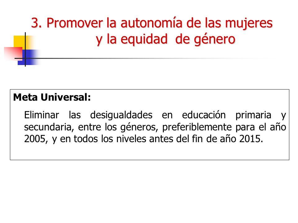 3. Promover la autonomía de las mujeres y la equidad de género