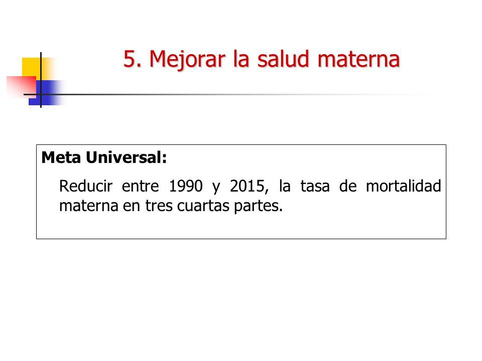 5. Mejorar la salud materna