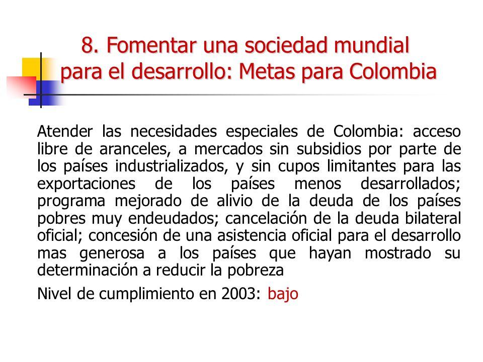 8. Fomentar una sociedad mundial