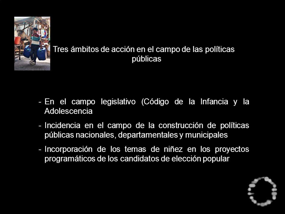 Tres ámbitos de acción en el campo de las políticas públicas