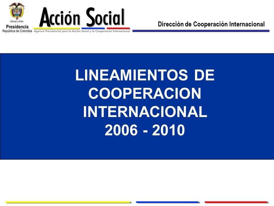 LINEAMIENTOS DE COOPERACION INTERNACIONAL 2006 - 2010