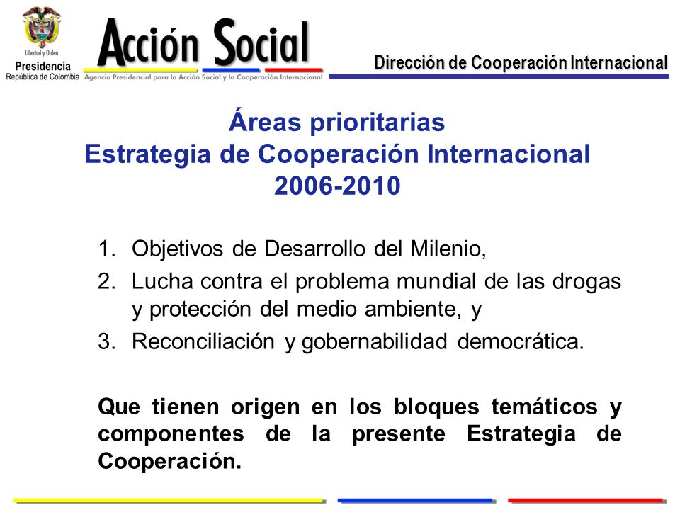 Estrategia de Cooperación Internacional 2006-2010