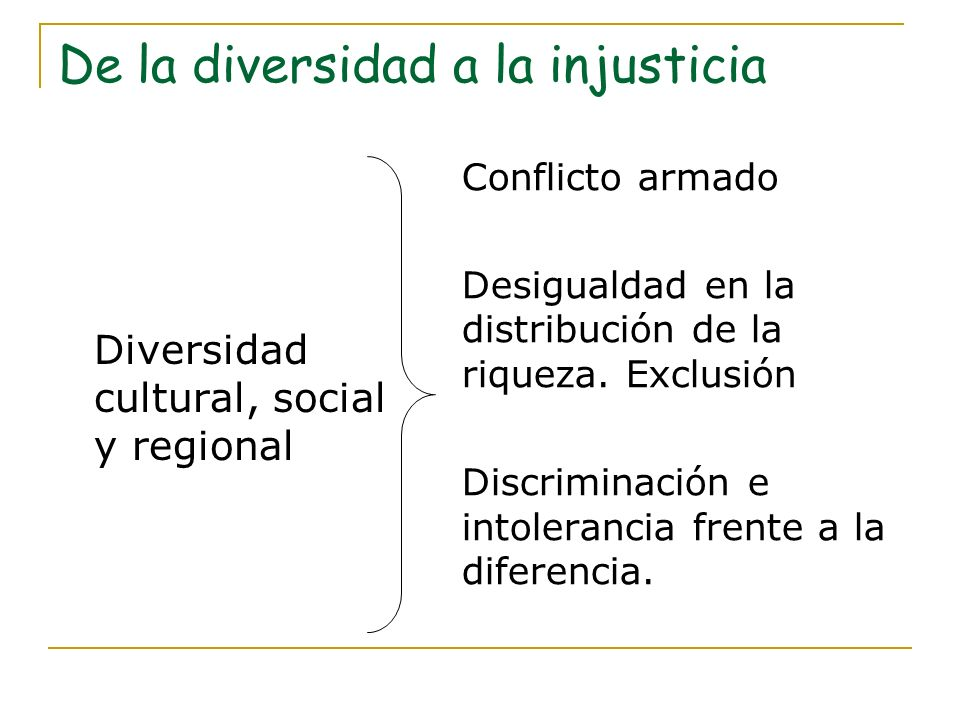 De la diversidad a la injusticia