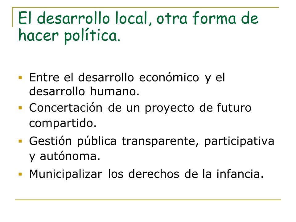 El desarrollo local, otra forma de hacer política.