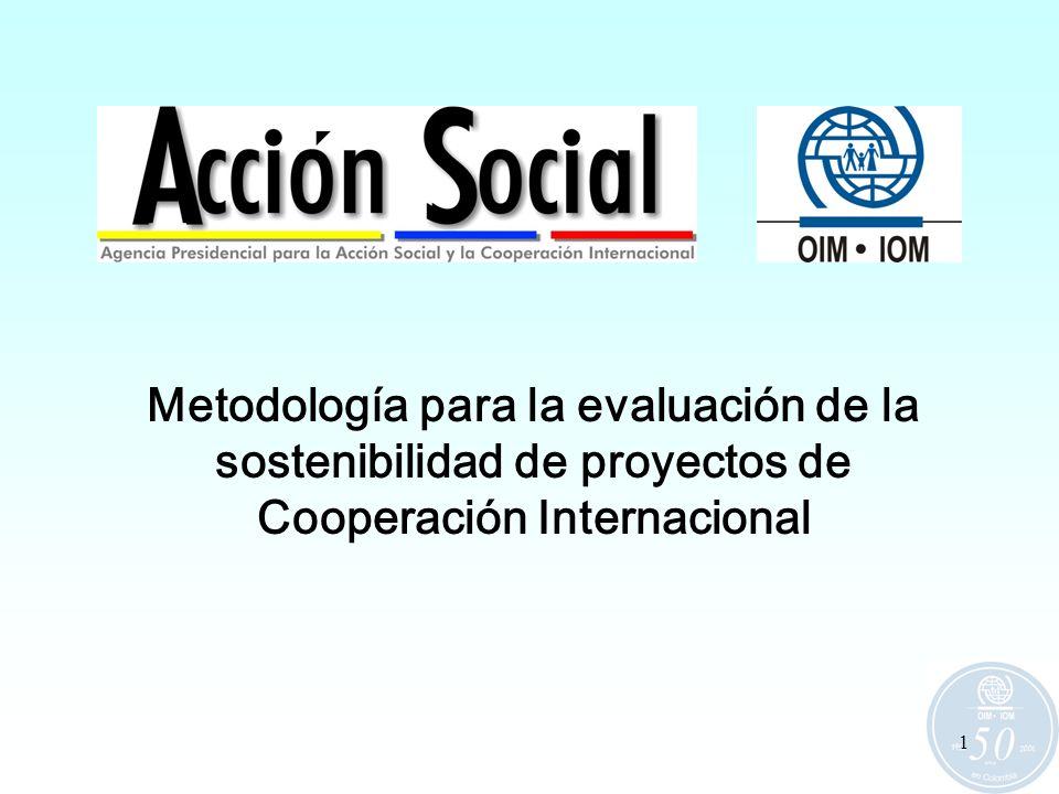 Metodología para la evaluación de la sostenibilidad de proyectos de Cooperación Internacional