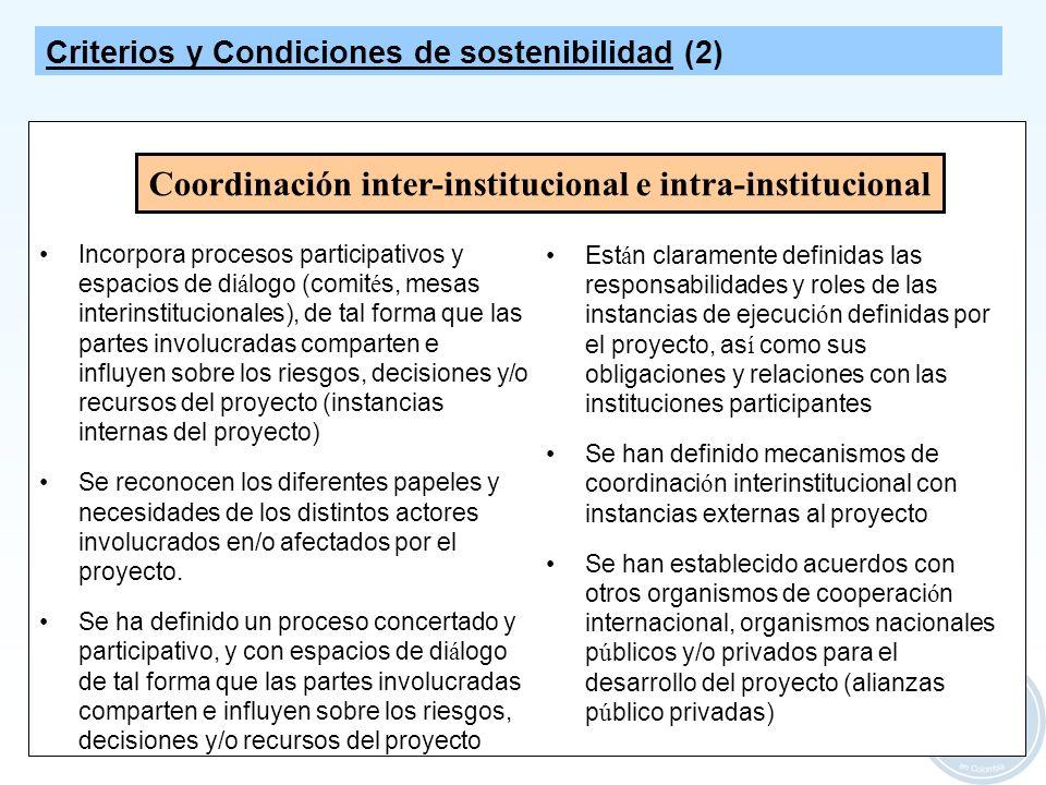 Coordinación inter-institucional e intra-institucional