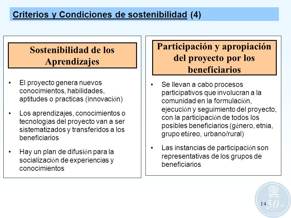 Participación y apropiación del proyecto por los beneficiarios