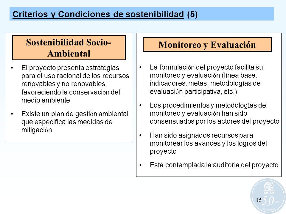 Sostenibilidad Socio-Ambiental