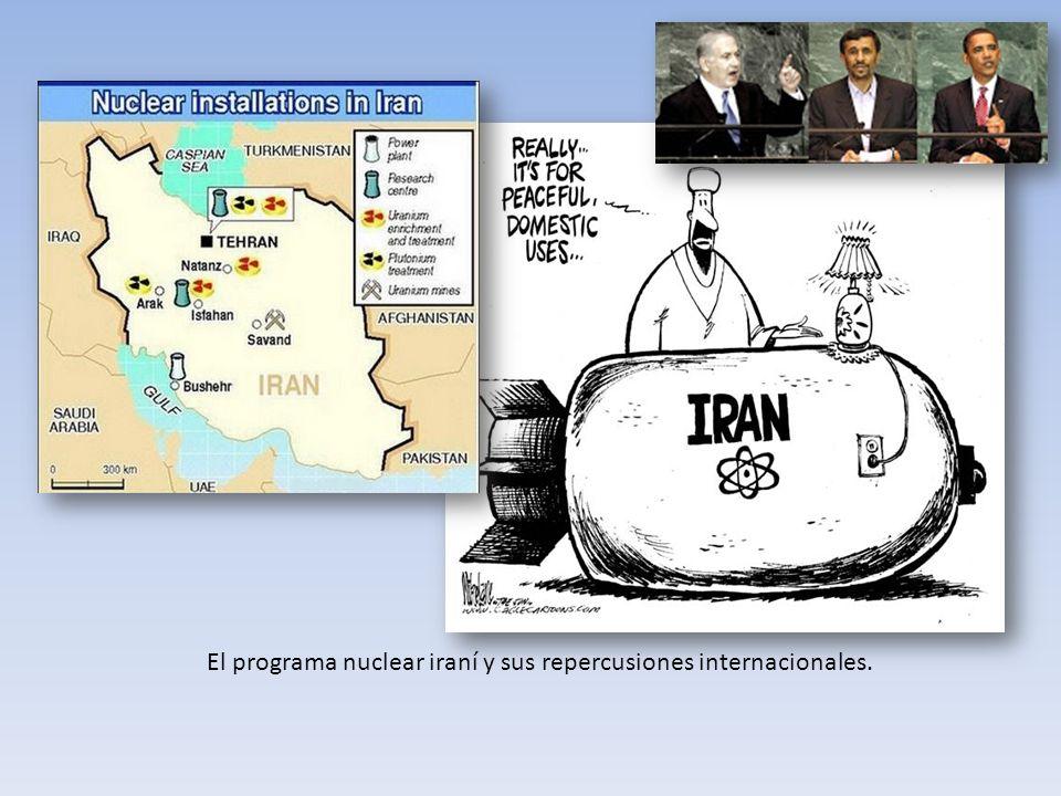 El programa nuclear iraní y sus repercusiones internacionales.