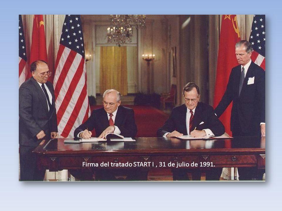 Firma del tratado START I , 31 de julio de 1991.