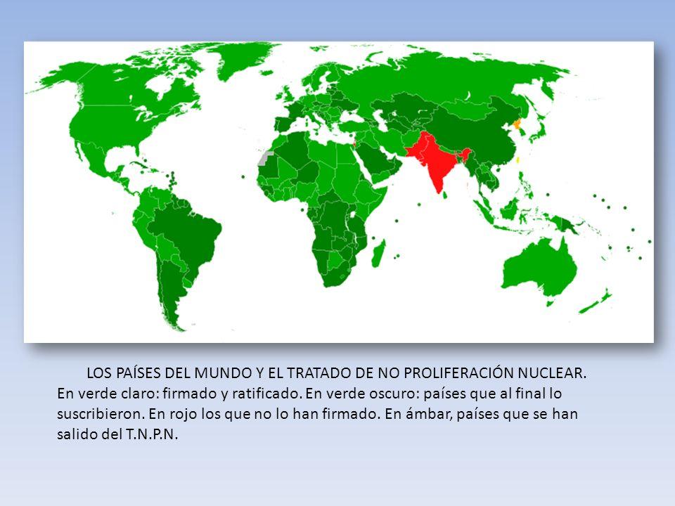 LOS PAÍSES DEL MUNDO Y EL TRATADO DE NO PROLIFERACIÓN NUCLEAR.