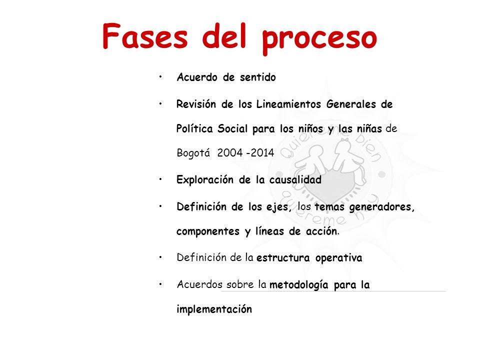 Fases del proceso Acuerdo de sentido