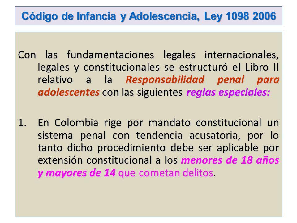 Código de Infancia y Adolescencia, Ley 1098 2006