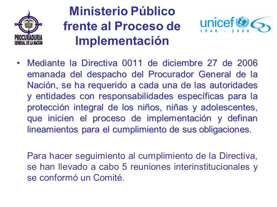 Ministerio Público frente al Proceso de Implementación