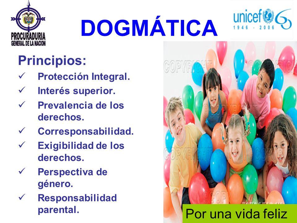 DOGMÁTICA Principios: Por una vida feliz Protección Integral.