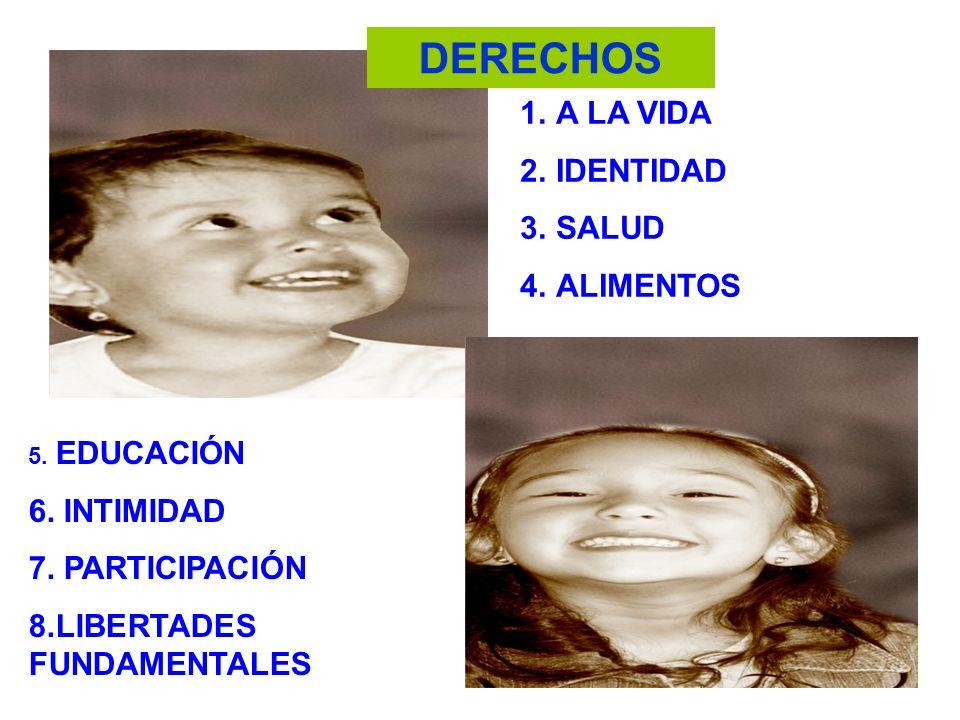 DERECHOS A LA VIDA IDENTIDAD SALUD ALIMENTOS 6. INTIMIDAD