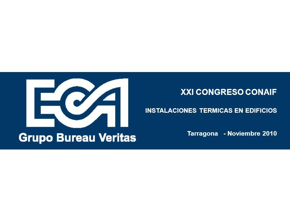 XXI CONGRESO CONAIF INSTALACIONES TERMICAS EN EDIFICIOS