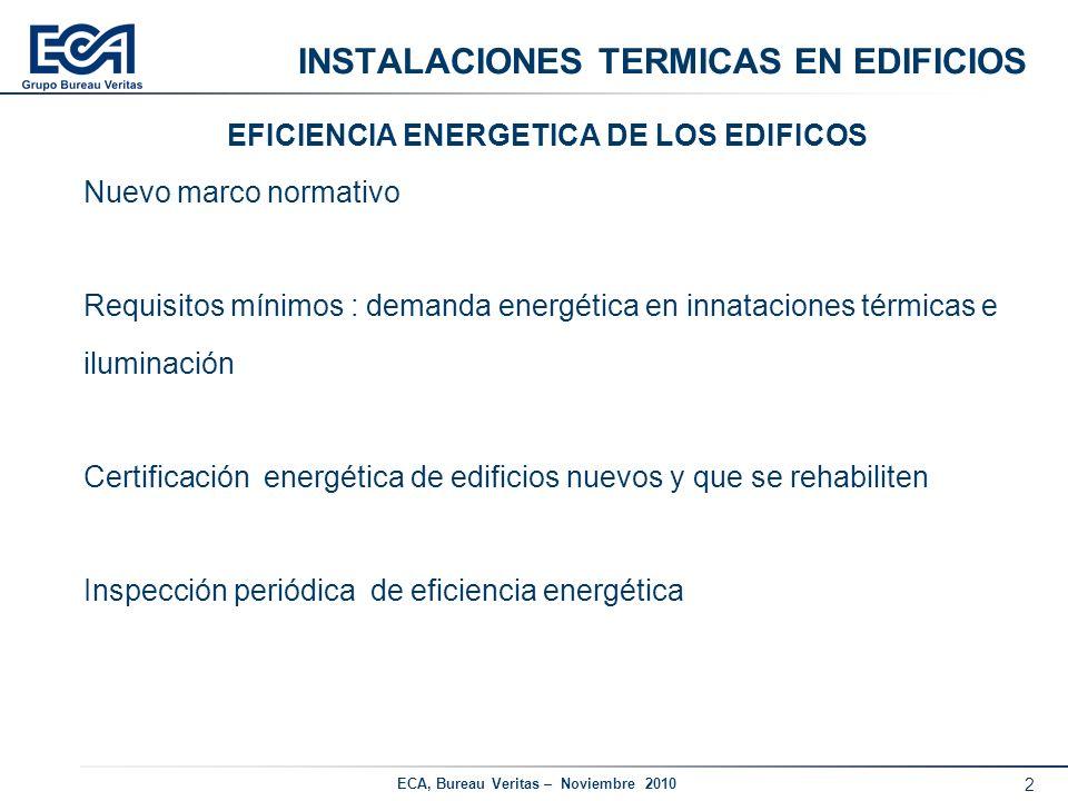 INSTALACIONES TERMICAS EN EDIFICIOS