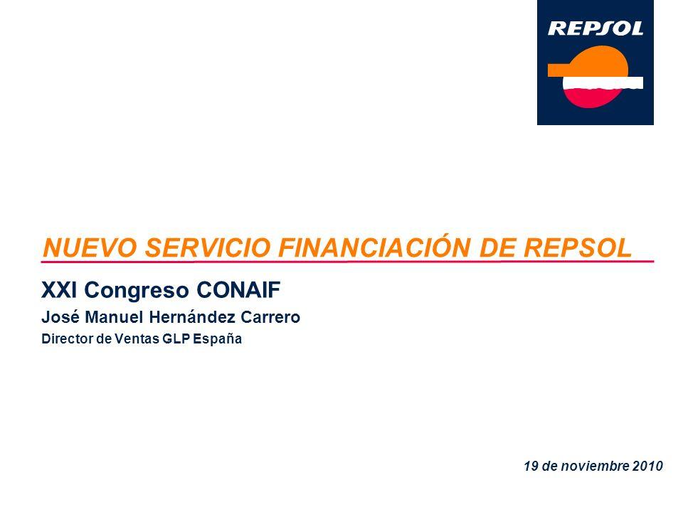 NUEVO SERVICIO FINANCIACIÓN DE REPSOL