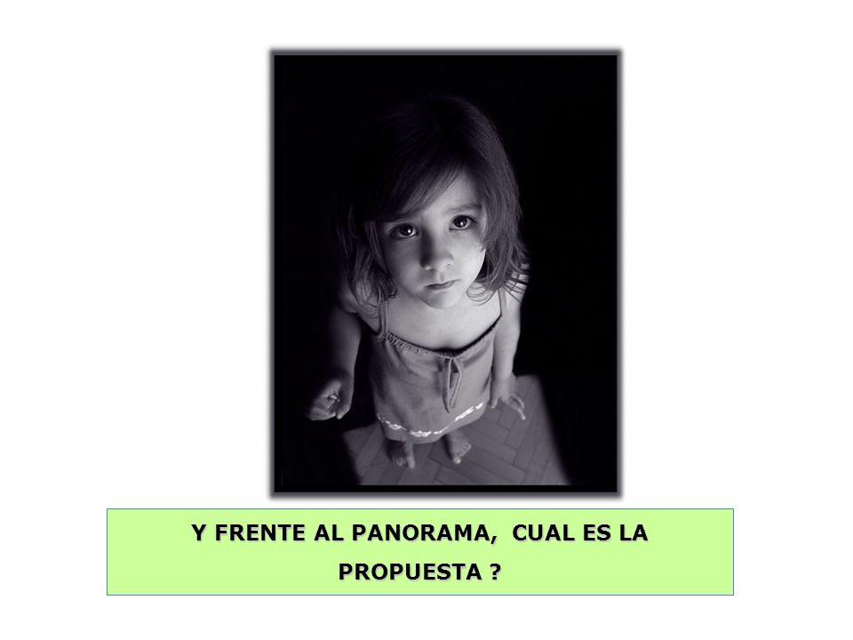Y FRENTE AL PANORAMA, CUAL ES LA PROPUESTA