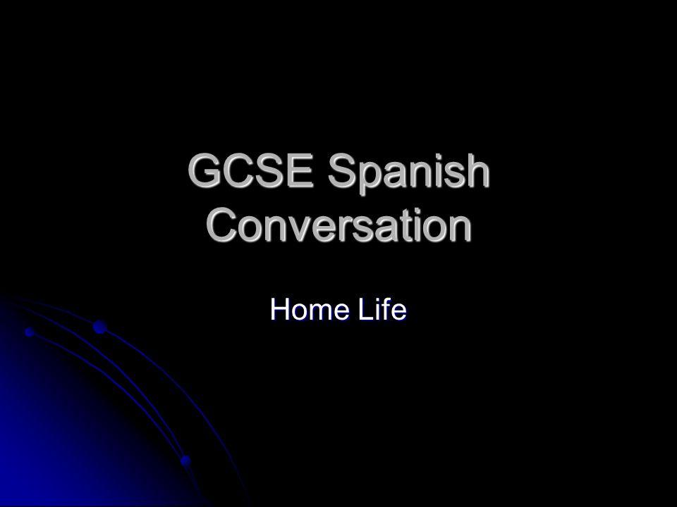 GCSE Spanish Conversation