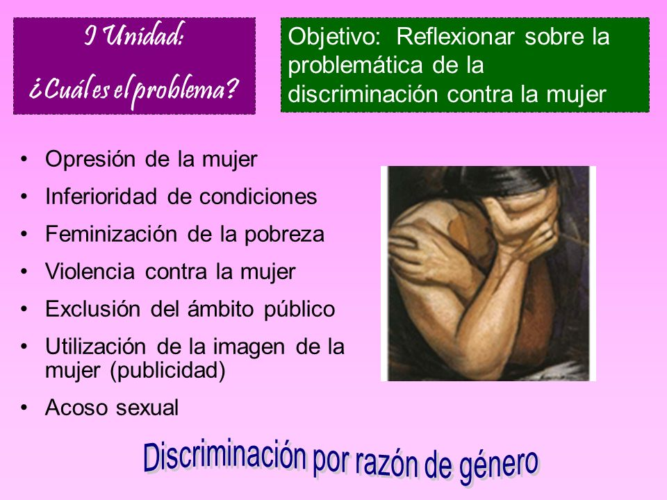 Discriminación por razón de género