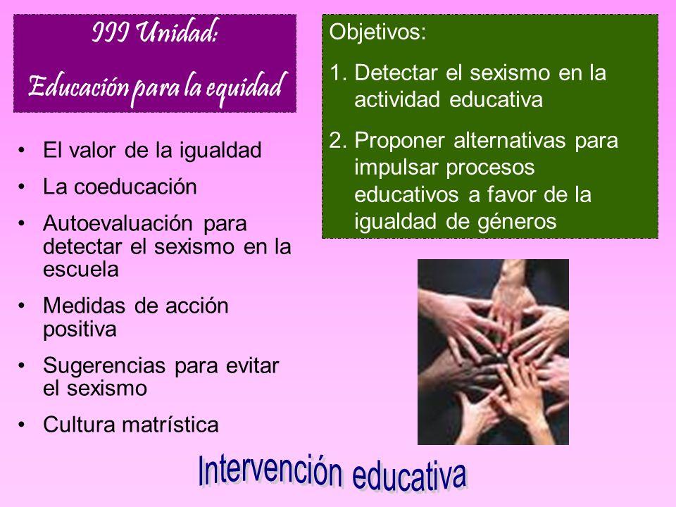 Educación para la equidad