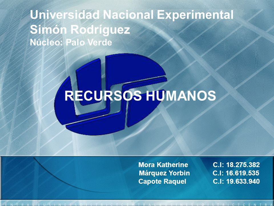 Universidad Nacional Experimental Simón Rodríguez Núcleo: Palo Verde