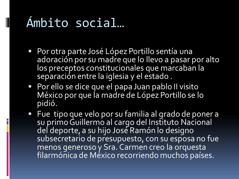 Ámbito social…
