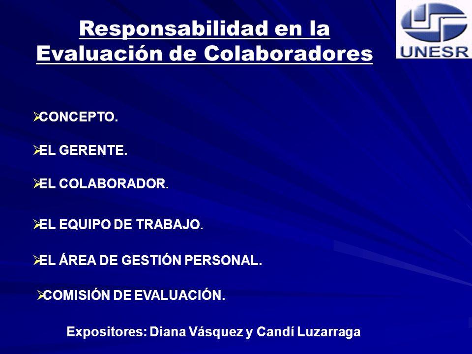 Responsabilidad en la Evaluación de Colaboradores