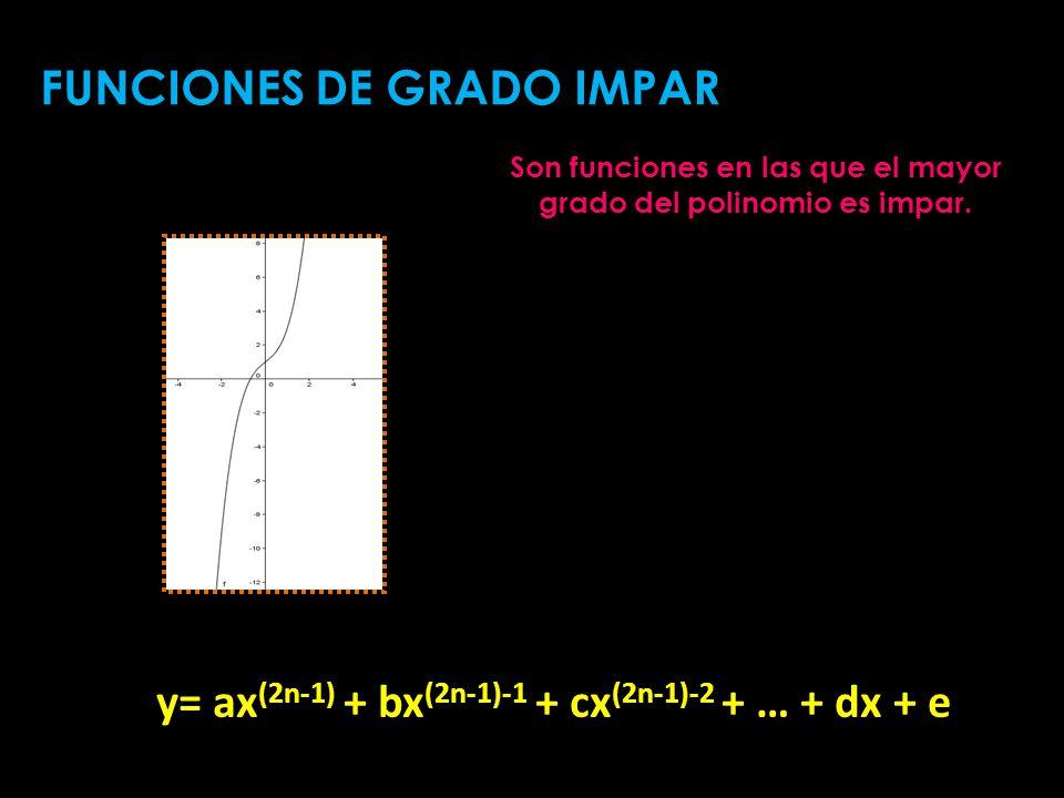 y= ax(2n-1) + bx(2n-1)-1 + cx(2n-1)-2 + … + dx + e