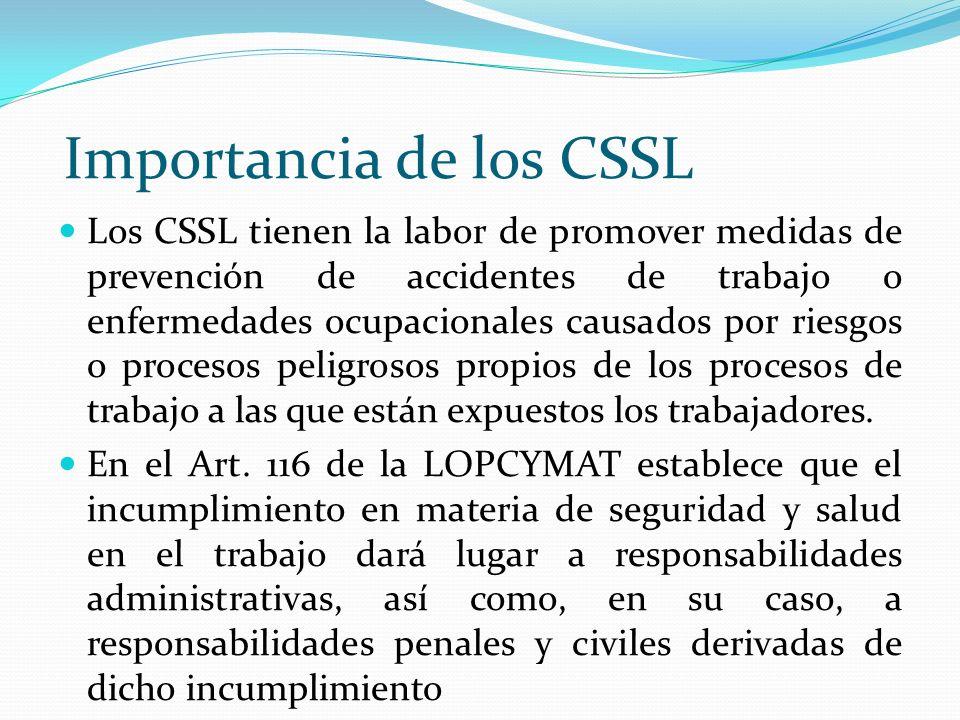 Importancia de los CSSL