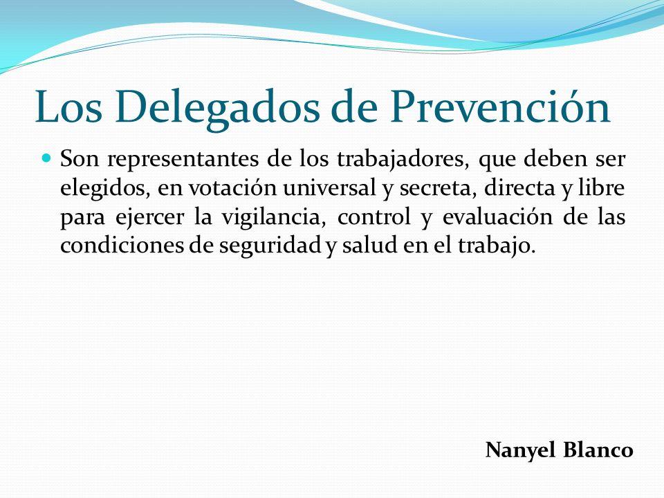 Los Delegados de Prevención