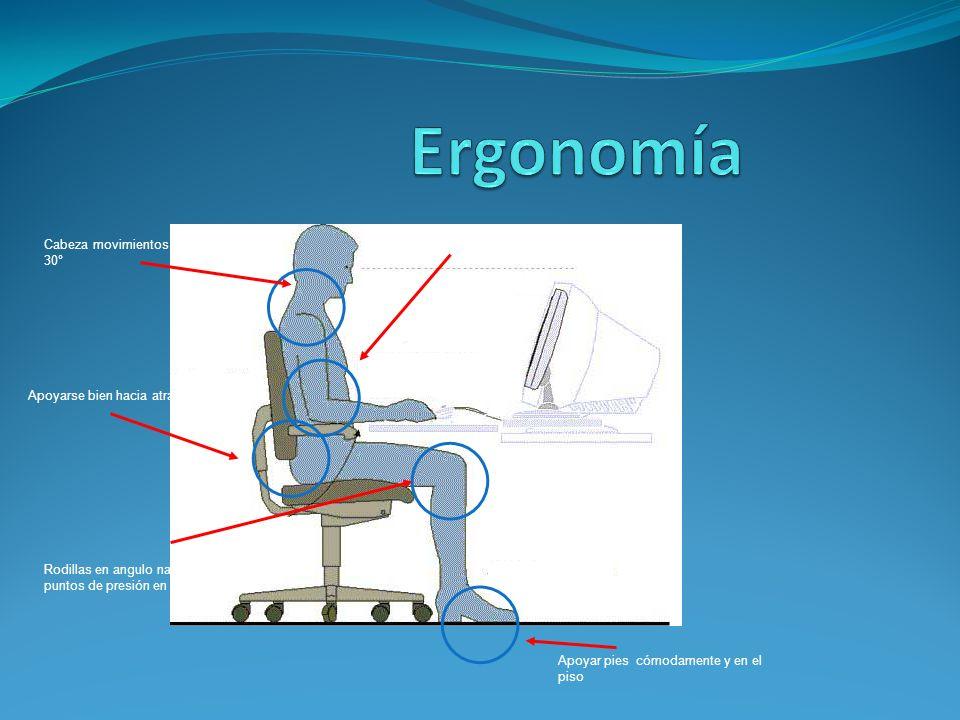 Ergonomía >Apoyo del brazo 90° - 130°