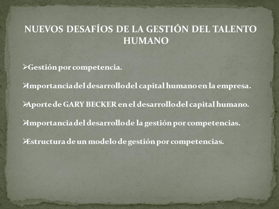 NUEVOS DESAFÍOS DE LA GESTIÓN DEL TALENTO HUMANO