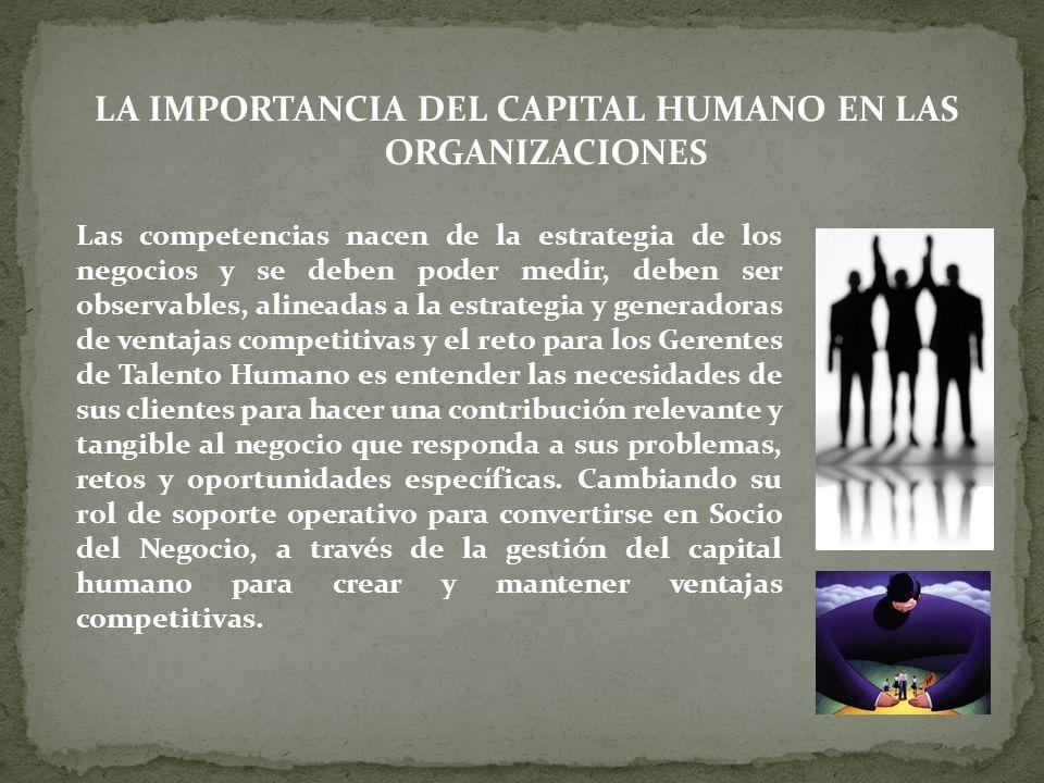LA IMPORTANCIA DEL CAPITAL HUMANO EN LAS ORGANIZACIONES