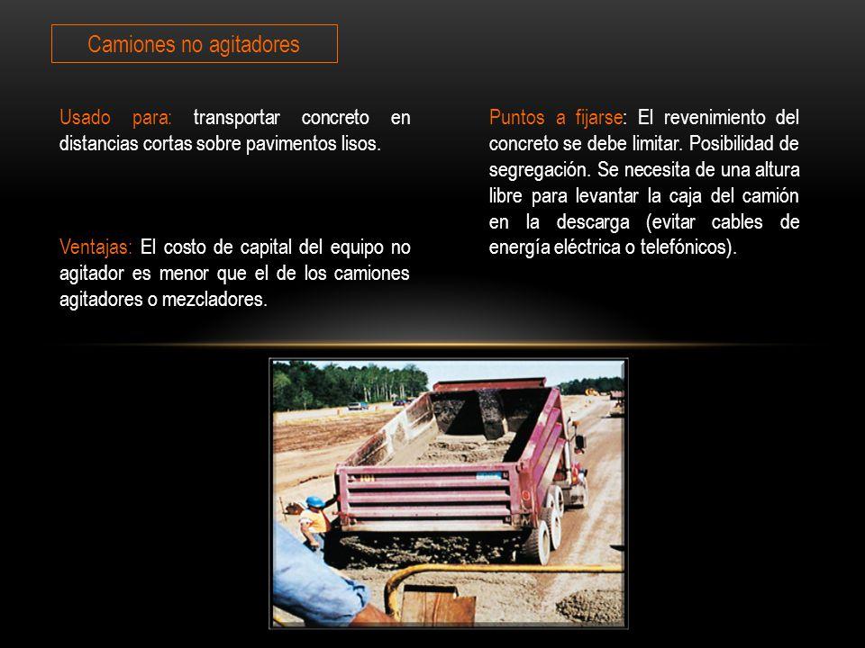Camiones no agitadores