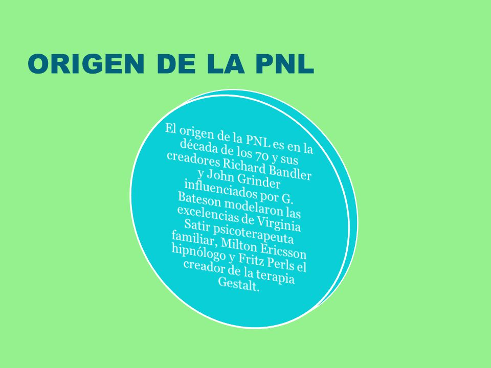 ORIGEN DE LA PNL