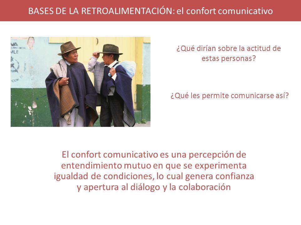 BASES DE LA RETROALIMENTACIÓN: el confort comunicativo