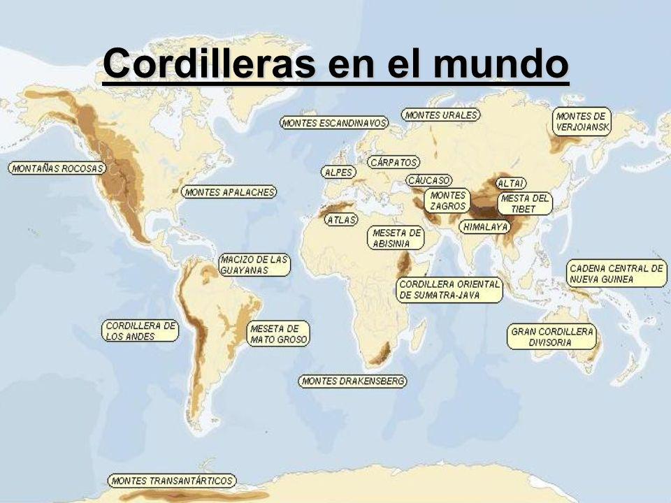 Cordilleras en el mundo