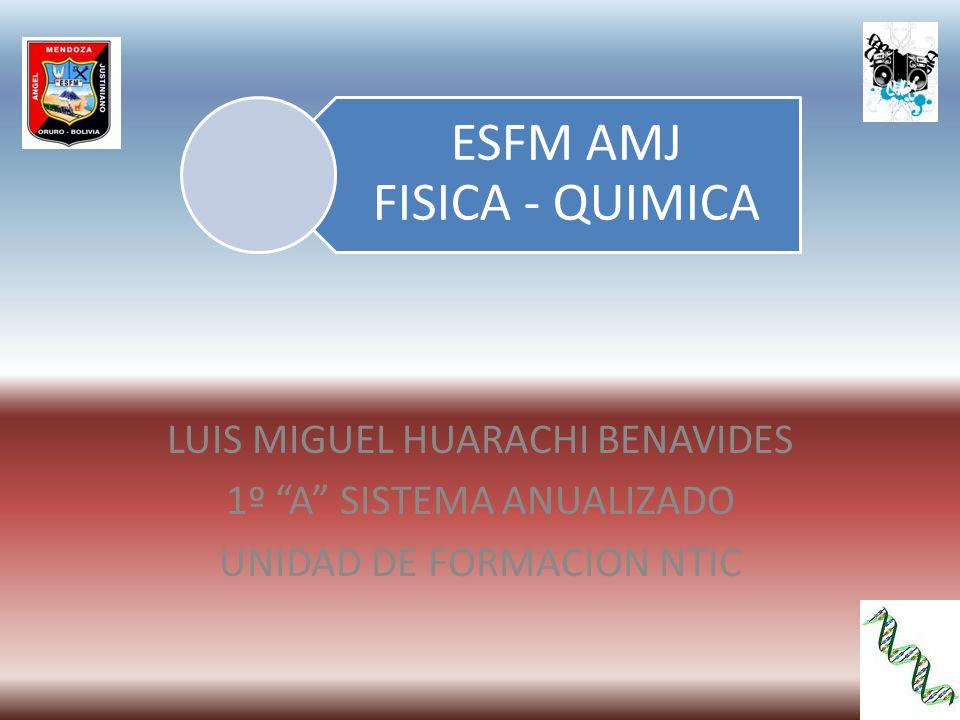 LUIS MIGUEL HUARACHI BENAVIDES 1º A SISTEMA ANUALIZADO