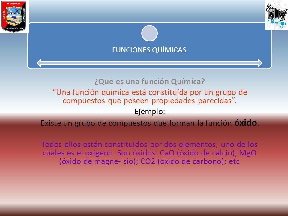 ¿Qué es una función Química