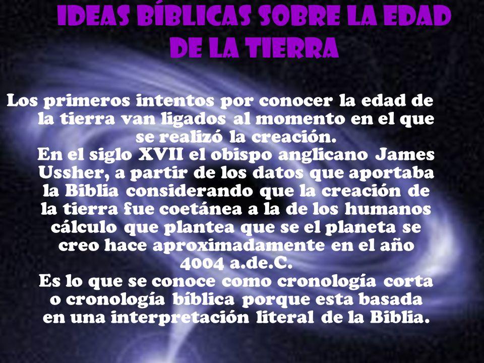 Ideas bíblicas sobre la edad de la tierra