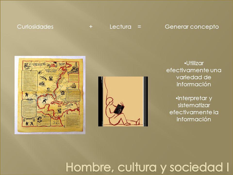 Hombre, cultura y sociedad I