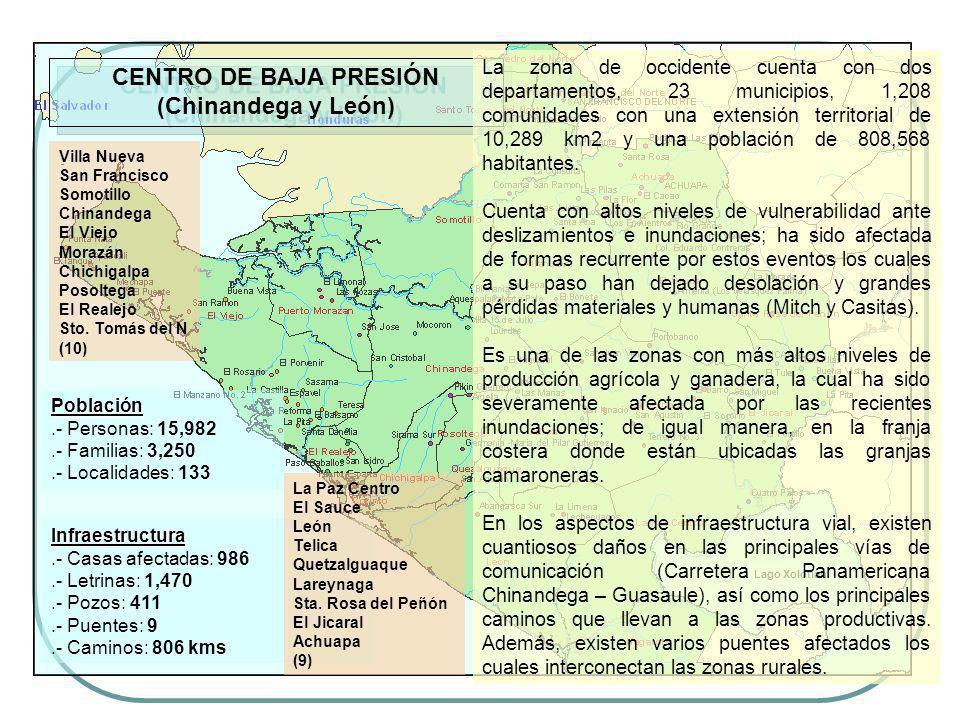 CENTRO DE BAJA PRESIÓN (Chinandega y León)