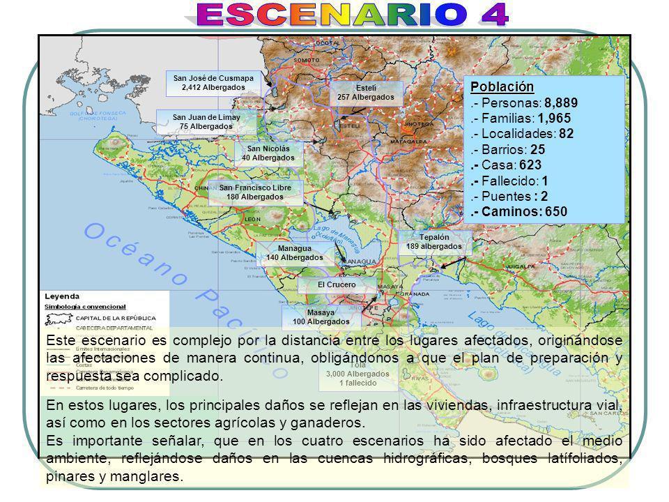 San José de Cusmapa 2,412 Albergados