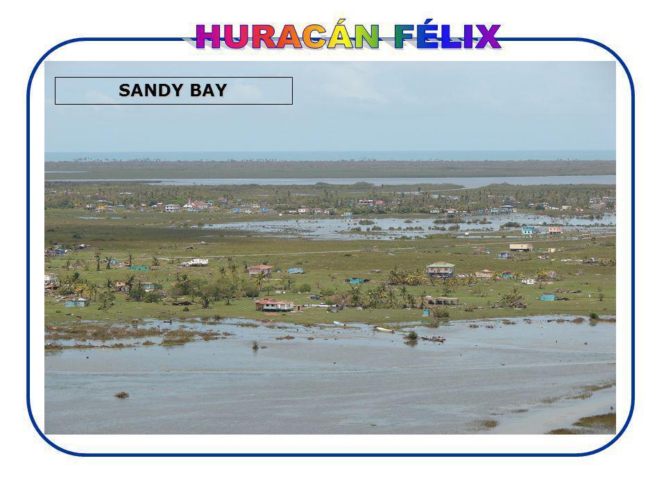 HURACÁN FÉLIX SANDY BAY